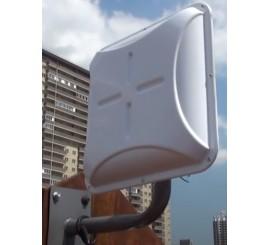Комплект 4G - 3G интернета панельная антенна 14 децибел гермобокс модем 2 роутера
